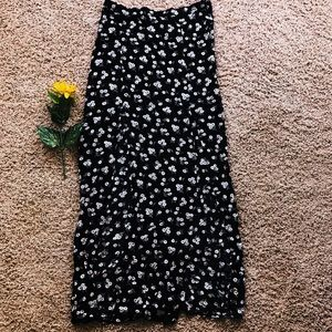 Floral Maxi Skirt with Leg slits